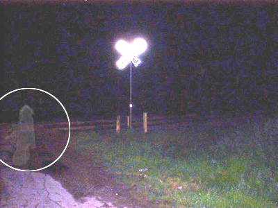 Railway Crossing Ghost Photo